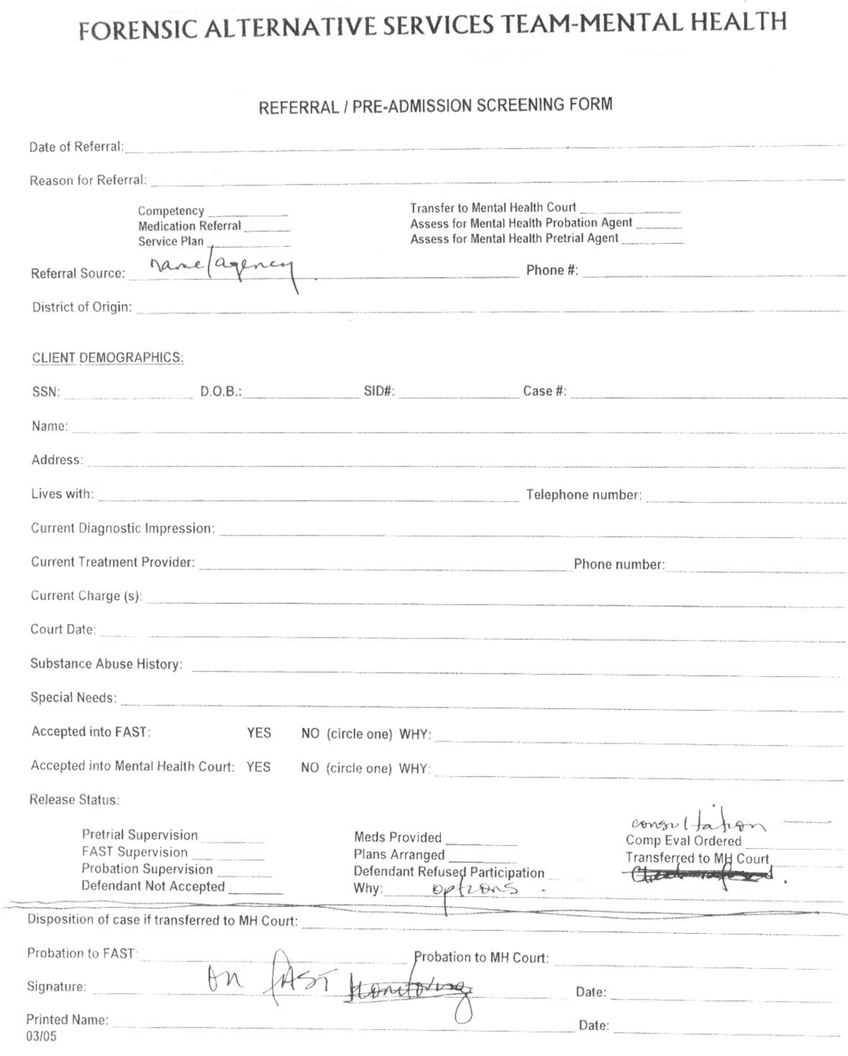 Blank Hospital Discharge Papers. Hospital Admission Form Template ...